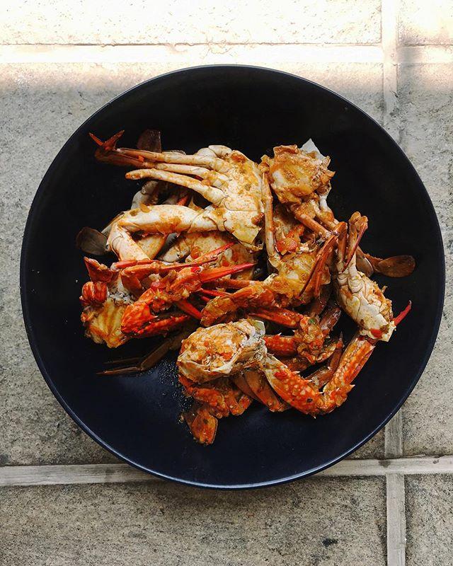 Devilled crab.